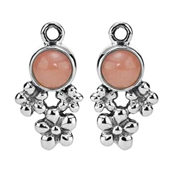 60d711b06 Pandora Silver Pink Opal Flower Earring Charms 290631POP: Amazon.co.uk:  Clothing