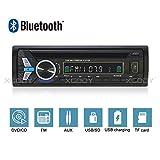 FidgetFidget Bluetooth Car Stereo Audio Radio DVD CD MP3 Player in-Dash FM USB AUX Input