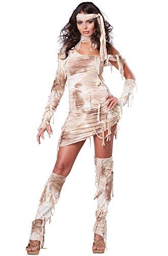 California Costumes Women's Mystical Mummy Sexy Horror Costume, Tan, Large
