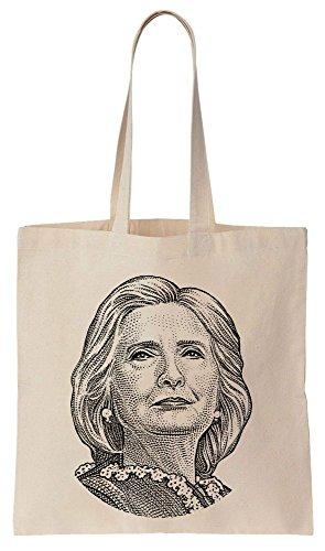 Hillary Clinton Dollar Style Portrait Sacchetto di cotone tela di canapa