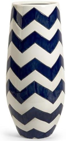 Home Decorators Collection Chevron Vase Tall Navy White Amazon Co Uk Kitchen Home