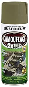 Rust-Oleum 279176 Specialty Camouflage Ultra Cover 2X Spray Paint, 12-Ounce, Army Green