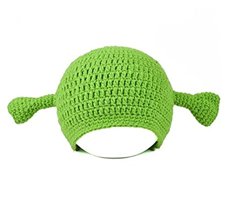 138e49bf20024 JcxHat Men s Green Funny Monster Ears Crochet Chunky Warm Winter Knit Hat  Beanie Skully Cap at Amazon Men s Clothing store