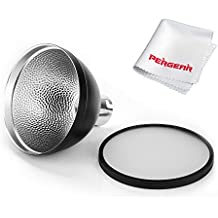 Godox AD-S2 Standard Reflector with Soft Diffuser and PERGEAR Cleaning Cloth for Godox AD200 AD180 AD360 AD360II Flashes