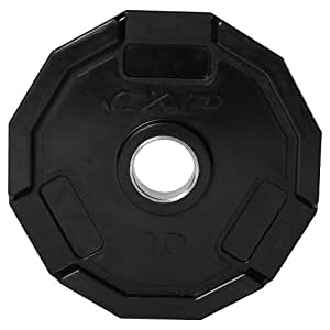 "CAP Barbell Olympic 2"" 12 Sided Rubber Grip Plate (Single), 10 lb."