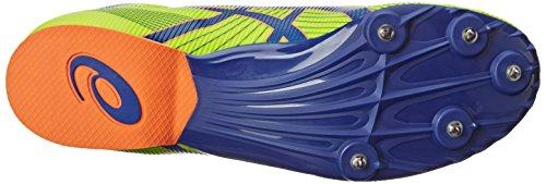 Asics Mens Hyper Md 6 Friidrett Sko Flash Gul / Dyp Blå / Flash Orange