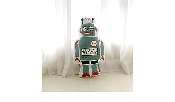 Modelos De Explosión Ins Dibujos Animados Almohada Bebé Muñecas Muñeca Niños Habitación Decoración Apoyos De La Foto, Gran Robot Modelos De Doble Cara: Amazon.es: Hogar