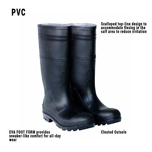 CLC Rain Wear R23007 Over The Sock Black PVC Men's Rain Boot, Size 7 2