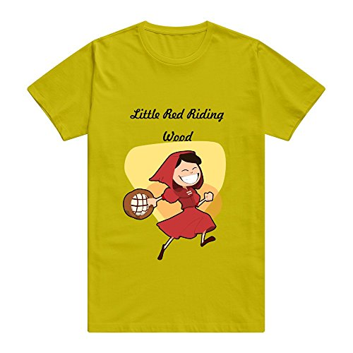 Little Red Riding Hood Cute 100% Cotton Gold Shirts For Adult Size XXL (Little Miss Riding Hood)