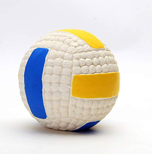 EETOYS Latex Volley Ball Dog Toy Squeaky Interactive Trainin