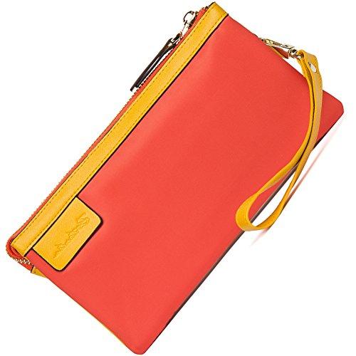BOSTANTEN Waterproof Wristlets Wallet Clutch Wallets Purses for Women & Girls Orange by BOSTANTEN