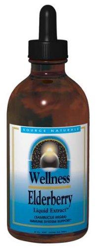Source Naturals Wellness extrait liquide de sureau, 4 once (Pack de 2)