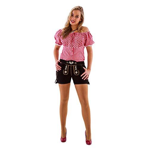 NEU Damen-Trachtenhose aus Leder kurz,schwarz,Gr38