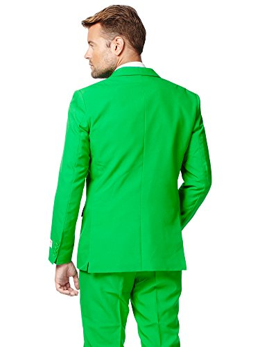 763a889396b7fc Opposuits Evergreen Solid Green Suit For Men Coming With Pants, Jacket, Tie  and Free