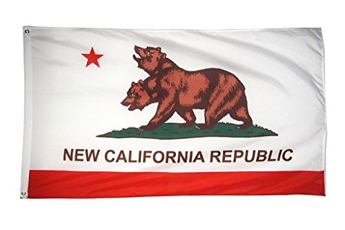 DANF FLAG New California Republic Flag Banner 3ftx5ft Polyes