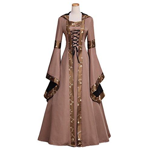 CosplayDiy Women's Maria Olive Green&Copper Victorian Dress Costume XXXXL (Renaissance Dress Plus Size)
