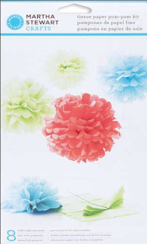 Martha Stewart Crafts Pom Poms, Medium Blue