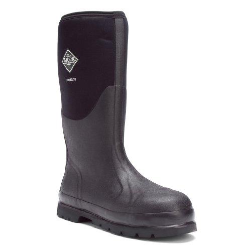 The Original MuckBoots Adult Chore Hi Boot Steel Toe,Black,Men's 13 M/Women's 14 M (Boots Gear Wolverine)