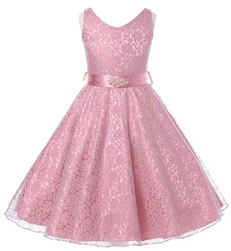 Olivia KOO Lovely Lace V-Neck Flower Girl Dress ()