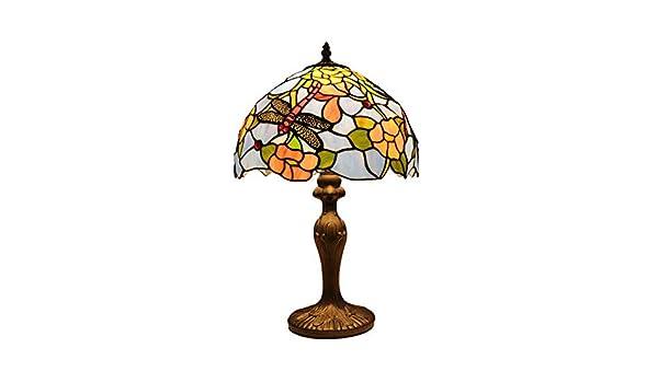 Tiffany Lámpara, Rosa Lámpara de mesa del vitral del estilo de ...