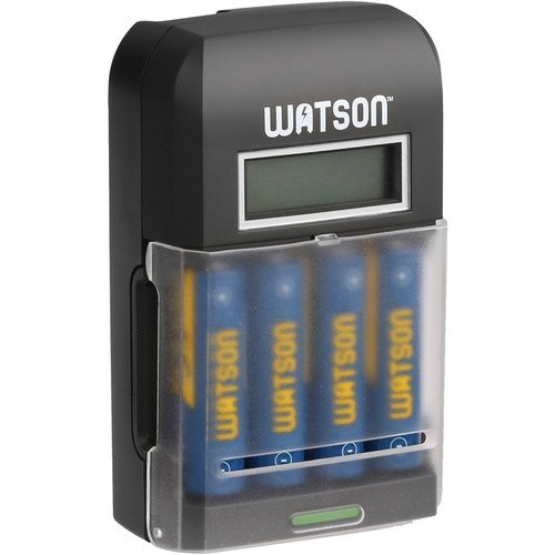 Watson 4-Bay Rapid Charger with LCD and 4 AA NiMH Batteries ()