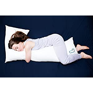 The snuggL Pillow - Total Body Pillow, Rated Best Pillow For Side Sleepers, Pregnancy Pillow, Hypoallergenic with Contoured Support System