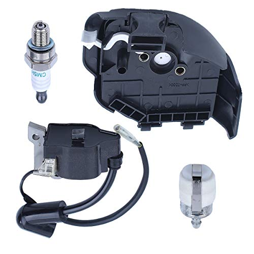 Adefol Air Filter Housing Ignition Coil Kit for Hond GX25 Engine Motor Lawn Mower Replacement Parts for 30500-ZOH-013, 30500-Z0H-023, 17211-ZOH-000, 17231-Z0h-010