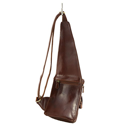 marrón para al hombre Tuscany Bolso Mega marrón hombro qYInS