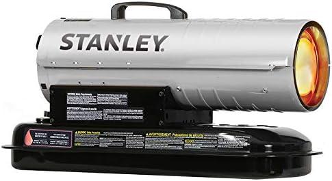 STANLEY ST-80T-KFA Kerosene Diesel Forced Air Heater, 80,000 BTU, Silver