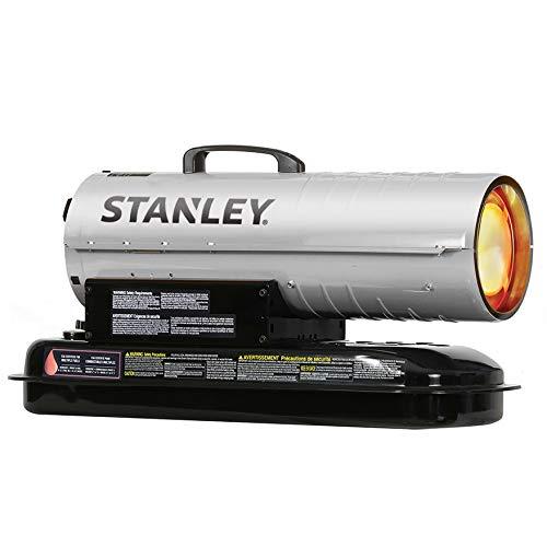 STANLEY ST-80T-KFA Kerosene/Diesel Forced Air Heater, 80,000 BTU, Silver (Kerosene Diesel Forced Air Heater)