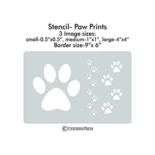 XL Stencil - Paw Prints -