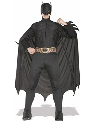Rubie's Deluxe Muscle Chest Adult Batman Costume, Black, Large ()