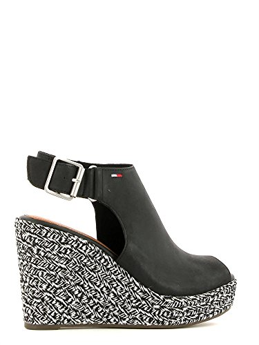 mujer zapato de cuero Tommy Hilfiger negro negro