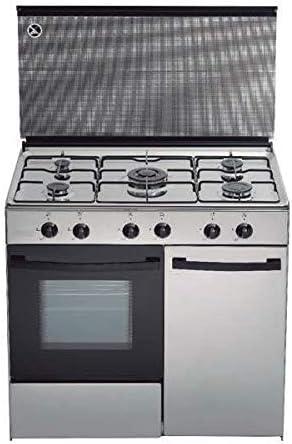 Cocina de gas butano/natural Haltra P5-FX, 5 quemadores ...
