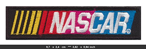 NASCAR Iron Sew On Cotton Patches Auto Cars Racing Motor Sports black by RSPS Embroidery n Decals Auto Car Sports Iron