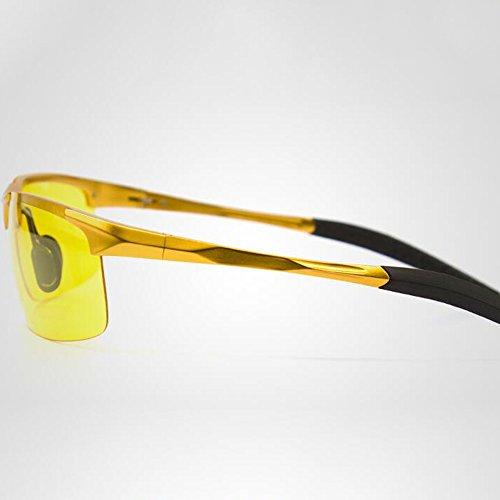 Silver Título Driving Decorativo Driver Safe Gafas Lens Antideslumbrante frame Gold Espejo Polarized Color Night HD frame Vision rxO1qrg