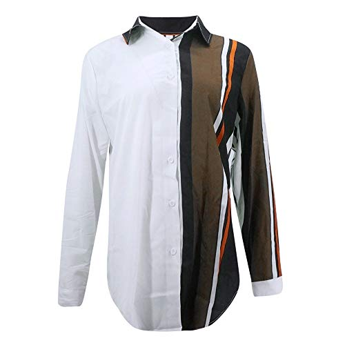 Shirt Champion Classique Multicolore Top MORCHAN Up V Ray Longues Mode 5 Manches Chic Chemisier Femme Button Chimie Blouse Chemise Tunique Top Chemisier Multicolore Col A88qnwCd