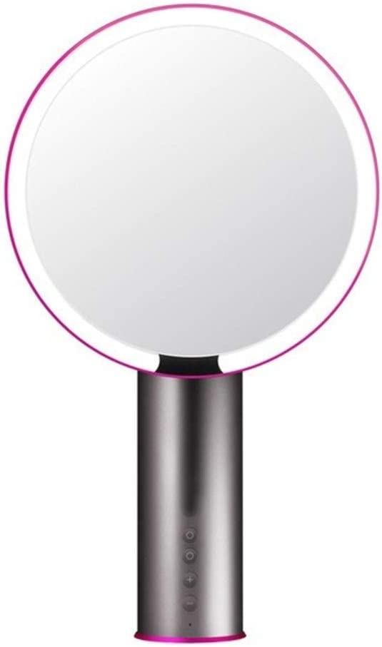Jtydj LEDライト3モードバニティミラースマートセンサクラリティシステム白化粧品化粧メイクアップミラー (色 : ブラック)
