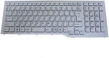 4371fe5d1d 富士通 LIFEBOOK AH54/E等用ノートパソコンキーボード(白)N860-7690