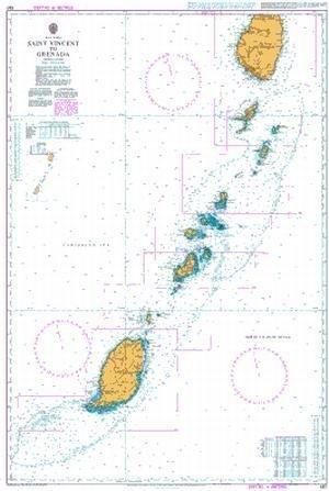 Ba Diagramm 597  St. Vincent Bis Grenada von UNITED KINGDOM Hydrographic Büro