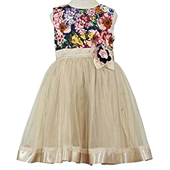 Pamina Gown For Girls - 8-9 Years, Multi Color