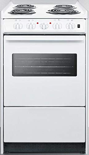 Summit WEM110RW 20 Inch Electric Freestanding Range in White