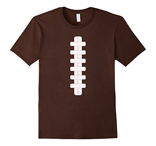 [Mens Football Last Minute Halloween Costume Shirt XL Brown] (Halloween Costumes Last Minute Adults)