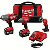 Milwaukee M18 Cordless Lithium-Ion Impact Wrench 3 Tool Combo Kit