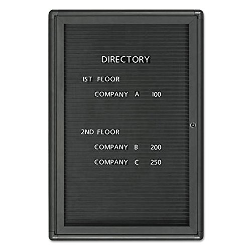 Enclosed Magnetic Directory, 24 X 36, Black Surface, Graphite Aluminum Frame By: Quartet by Office Realm