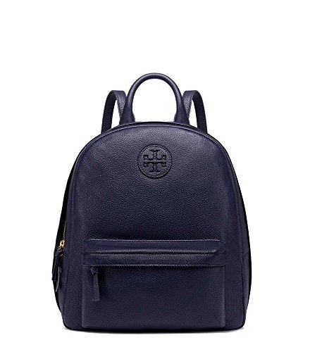 (TORY BURCH STYLE 40850 NAVY Pebbled Leather Backpack)