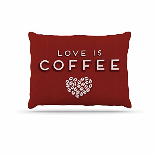 KESS InHouse Busy Bree'' coffee Love'' Brown Typograph Dog Bed, 30'' x 40'' by Kess InHouse