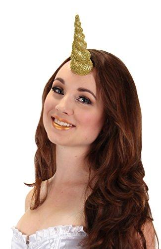 Gold Glitter Unicorn Horn by