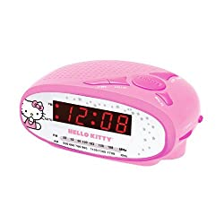 Spectra Hello Kitty AM/FM Alarm Clock Radio KT2051B (Pink)