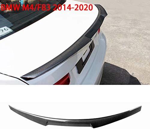 QCWI Spoiler de maletero Instalación no destructiva para el alerón trasero de fibra de carbono M4 modificado BMW M4 / F82 real, 2014-presente (F82).